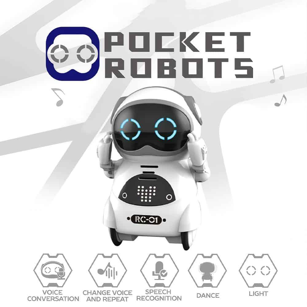 Edukacyjny mini robot kieszonkowy