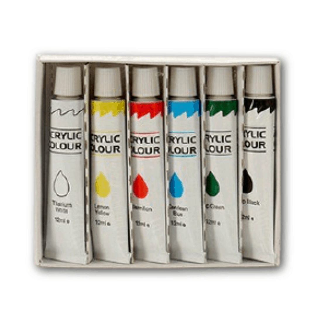 Farba akrylowa (6 sztuk)